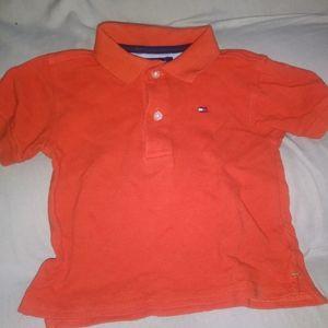 Tommy Hilfiger 12Mo. Orange Collared NWOT Tee